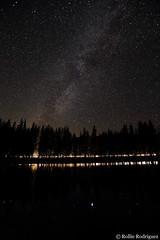 Milky Way and Passing Car, Tenaya Lake, Yosemite National Park, California (rollie rodriguez) Tags: california yosemitenationalpark tenayalake milkywayandpassingcar