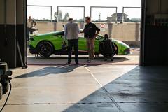 Lamborghini Huracan (lucarino) Tags: car box huracan pit racing lane lamborghini rare paddock cremona testauto cremonacircuit