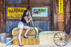 Farm girl (Antoine Grelin) Tags: old colors beautiful work vintage town desert wheat nevada ghost nelson wife ghosttown farmer