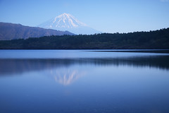 Mount Fuji and Lake SaikoYamanashi prefecture (Iyhon Chiu) Tags: lake japan spring mountfuji d750  saiko   mtfuji kawaguchi yamanashi  2015  nd110 saikolake bwnd110