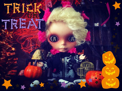 #🎃 #👻 TREATS PLEASE#!!!  #HappyFriday y'all!!! ☠☠ #love #blythe #customblythe #doll #ブライス #カスタムブライス #人形  #toys4life #halloweenfun #blytheboy
