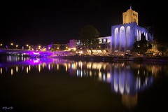 ...reflet nocturne... (fredf34) Tags: bridge france night purple pentax lumire violet sigma explore cathdrale reflet nuit ricoh 1850 agde k3 languedocroussillon hrault sigma1850f28 fredf purplebridge pauselongue cathdralesainttienne fotopro fredf34 pentaxk3 ricohpentaxk3 fredfu34 fotopromga684n cathdralesainttiennedagde