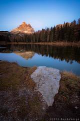Lago Antorno - Dolomiti (beppeverge) Tags: autumn mountain alps fall foliage autunno alpi montagna unescoworldheritage dolomites dolomiti altoadige dolomiten italianlandscape sudtirol ladino larici beppeverge
