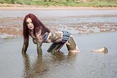 Raymond May Photography 2014 (Sherylanne Green) Tags: red green beach water hair photography scotland model shoot mud may scottish redhead aberdeen bikini messy raymond sherylanne shezzag