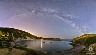 Milky Way over Lulworth Cove