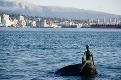 Girl in Swimsuit (411 Operator) Tags: canada statue vancouver seawall burrardinlet stanleypark girlinswimsuit