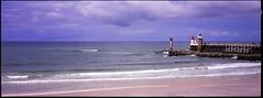 Capbreton_Lighthouse (Mikhail Serbin) Tags: ocean panorama lighthouse france film analog 35mm faro fujifilm xpan