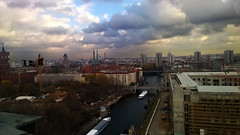 spree (my lala) Tags: above city sky panorama berlin river germany deutschland himmel spree mitte