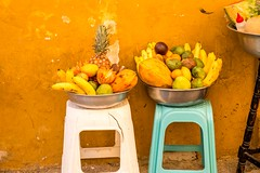 fruit baskets in Cartagena, Colombia (LeeHoward) Tags: colombia cartagena