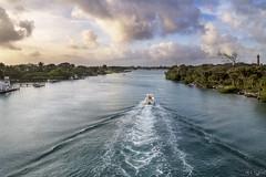 Heading Downriver (rjseg1) Tags: morning lighthouse river boat fishing florida jupiter indianriver