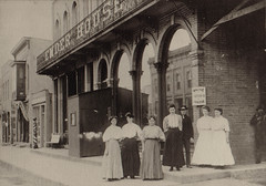Emder House Hotel, Women Posing on Sidewalk