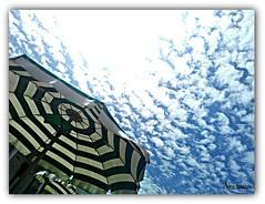 NUVOLE (nessuno64) Tags: italia nuvole mare estate pisa agosto toscana tirrenia ombrellone bagnolapace picmonkey
