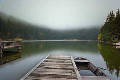 One day in the Blackforest (G_Howold) Tags: blackforest lake mist fog boat water weather nature landscape trees forest germany travel canon 20d colour mood long exposure autumn natureandnothingelse mummelsee