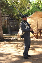 Alamo (Prayitno / Thank you for (12 millions +) view) Tags: konomark benteng fort alamo soldier costume sat sa sanantonio san antonio tx texas musket people outdoor day time canvas tent