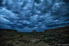 Turbulent Desert (MTD Photos) Tags: chacocanyon newmexico blue brown butte clouds desert landscape mattdomonkos nature rockformation sky turbulence