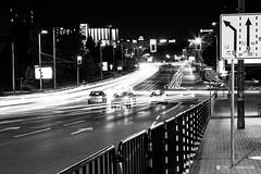 Sofia street view at night (Simeon Donov) Tags:                   bulgaria sofia lights phtography black white blackandwhite blackwhite details bynight night cityscape boulevard chernivruh ndk city   urope