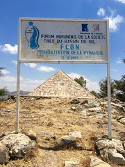 """The famous Nile River has its southernmost source in Bururi, discovered 1934 by the German Waldecker. A pyramid symbolises this discovery process was set up 1938, on the top of the Mt. Gikizi at 2088m.   August 2016 #itravelanddance • <a style=""""font-size:0.8em;"""" href=""""http://www.flickr.com/photos/147943715@N05/30194593480/"""" target=""""_blank"""">View on Flickr</a>"""