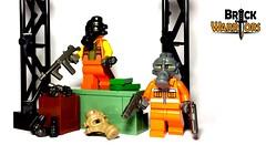 Oct 2016 - Robbers! (BrickWarriors - Ryan) Tags: brickwarriors custom lego minifigure weapons helmets armor guns gas mask combat pistol gangster smg frag grenade modern city bank heist robber