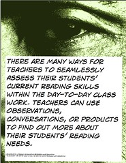 Educational Postcard: Teachers can use observations, conversations, or products to find out about the students' learning needs (Ken Whytock) Tags: teachers assess assessment students current reading skills daytoday classwork observations conversations products needs