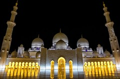Sheikh Zayed Mosque court (keltia17) Tags: samyang14mm mosque abudhabi uae eau emirates emirats mosquee mezquita sheikhzayedmosque gold marbre marble white islam voile veil burqa niqab