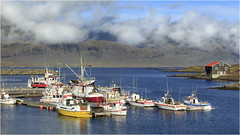 Djupivogur Harbor (BC3.photography) Tags: iceland ocean village harbor port boats fishing clouds sky mountains europe canon travel vacation