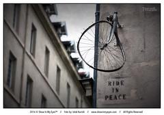 Ride in peace (Iztok Alf Kurnik) Tags: ride rideinpeace streetlife art paris france postcard travel exploreparis explorefrance architecture architectureart