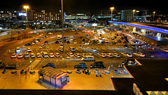 Perpetual motion. (PentlandPirate of the North) Tags: manchester airport car park arrival departures terminal light trails