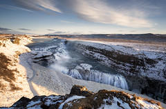 Gullfoss (jaygilmour11) Tags: gullfoss waterfall iceland travel nikon d750 water ice snow rock clouds longexposure blue white