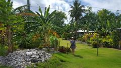 Walking through Peter's village on 'Aunu'u island