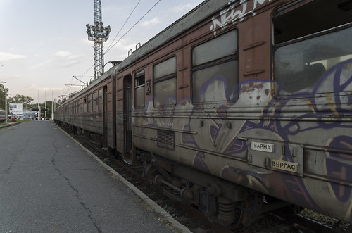 Electric train ER25 at the Burgas railway station, 09.10.2014.