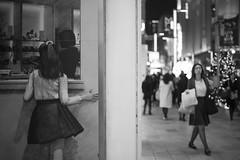 WINDOW SHOPPING (Tokyo Street Photography) Tags: ajpscs japan nippon  japanese  tokyo  nikon d750 tokyostreetphotography streetphotography street seasonchange fall autumn aki   shitamachi monochromatic grayscale monokuro blackwhite blkwht bw blancoynegro blackandwhite monochrome imdifferent windowshopping