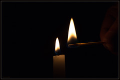 lighting a candle (Max Gerber Smith) Tags: candle flame