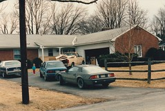 AT MY SISTER AND BROTHER IN LAWS HOUSE IN 1989 (richie 59) Tags: ulstercountyny ulstercounty newyorkstate newyork townofulsterny townofulster unitedstates fordmotorcompany ford winter generalmotors chevrolet nystate richie59 outside cadillac chevycamaro camaro chevy f150 chevycavalier cavalier fordpickuptruck oldphotograph olddays oldpicture oldphoto 1988chevycavalier 1988cavalier 1988chevy 1989 march41989 march1989 photoscan 1985fordf150 1985fordpickuptruck 1985ford 1982chevycamaro 1982camaro 1982chevy cadillaccoupedeville coupedeville 1979cadillaccoupedeville 1979coupedeville 1979cadillac america 1980s 1970scar 1980scars 1980struck hudsonvalley midhudsonvalley midhudson nys ny usa us 35mmfilm 35mm filmphotography house frontyard yard trees grass cars truck photogrgph nephew child boy tantruck greycar bluecar driveway
