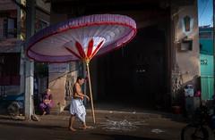 Temple Umbrella (rameshsar) Tags: parthasarathytemple temple chennai festival kodai procession