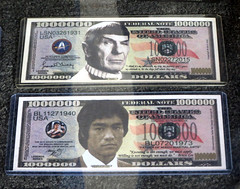 Star Trek and Bruce Lee Money Bills (shaire productions) Tags: startrek spock leonardneomoy brucelee martialarts money bill us dollar collectible popculture people icon celebrity fun