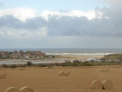 Alnmouth from moving train (Granpic) Tags: northumberland alnmouth riveraln estuary