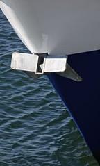 Anchor (Padmacara) Tags: australia fremantle d7100 nikkor18140 water anchor blue diagonal