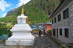 Walk in Himalaya's (Fareed Gujjar - Next Mount Everest April 14) Tags: lukla manju namche everest base camp stupa