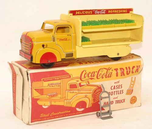 1954 Marx Coca-Cola Truck with Box ($201.60)