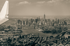Flying into the 1940s (Arutemu) Tags: america american a7r usa us urban unitedstates nyc ny newyork newyorkcity nuevayork manhattan city cityscape ciudad view ville airplane airtravel airborne aircraft air flight flying