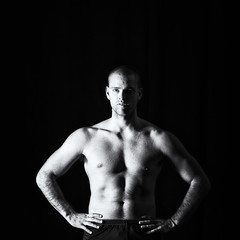 Phil (Fairy_Nuff (new website - piczology.com!)) Tags: phil bruce fitness model muscular handsome man male monochrome shadow