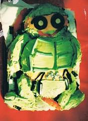 Michaelangelo Ninja turtle cake c 1989 (deadbudgie) Tags: teenage mutant ninja turtle cake australia 1989