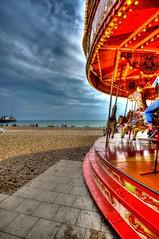 Carousel on Brighton Beach (michaelasss) Tags: merrygoround carousel brighton beach seafront england entertainment
