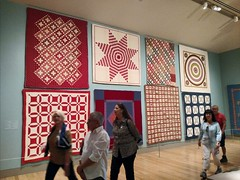 Quilts (Thad Zajdowicz) Tags: 365 366 art american usa wall people gallery museum thehuntington sanmarino california zajdowicz cellphone indoor color red patterns availablelight motorola droid turbo sooc artonflickr
