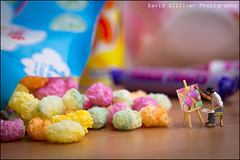 Painting Rainbow Drops (Pikebubbles) Tags: smallworld itsasmallworld davidgilliver davidgilliverphotography thelittlepeople littlepeople miniature miniatures miniatureart miniart macro small creative creativephotography myartbroker colours colors colour color fineartphotography toys toy toyart