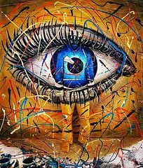 Invisible, recent project #fleshandacrylic #benheineart #liveperformance #model #eye #smiley #invisible #painting (Ben Heine) Tags: instagramapp square squareformat iphoneography uploaded:by=instagram lofi