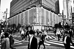 Another Working Day.... (Victor Borst) Tags: street streetphotography streetlife shimbashi reallife real realpeople asia asian asians faces face canon5dmarkii canon candid travel travelling trip traffic salarymen japan japanese tokyo urban urbanroots urbanjungle architecture contrast lines crossing crossover blackandwhite bw mono monotone structure rush hour