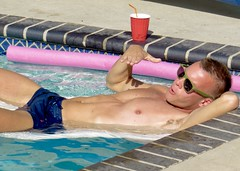 IMG_0087 (danimaniacs) Tags: party shirtless man guy hot sexy bathingsuit trunks armpit hunk