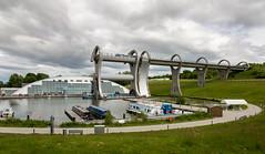 The Falkirk Wheel (IceNineJon) Tags: unitedkingdom falkirkwheel scotland stirlingshire canon5dmarkiii falkirk europe photography greatbritain 5dm3 britain uk elevator lift boat boats canal