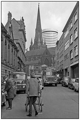 Moat Lane 1967 (geoff7918) Tags: moatlane stmartinschurch wholesalemarket traders barrow aec morristraveller austin 1967 birmingham